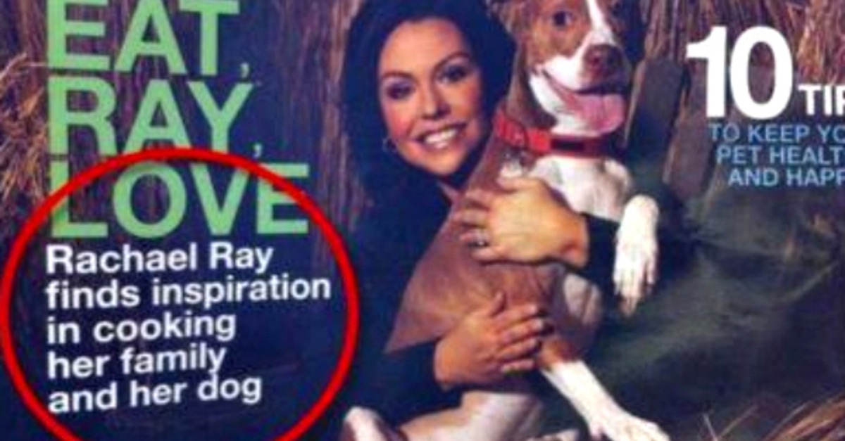 Rachel Ray on cover of a magazine with grammatical errosr in the title
